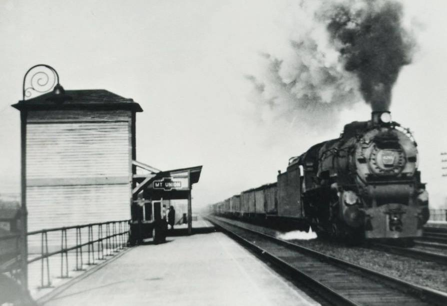 Train Station in Mt. Union Huntingdon County in 1946
