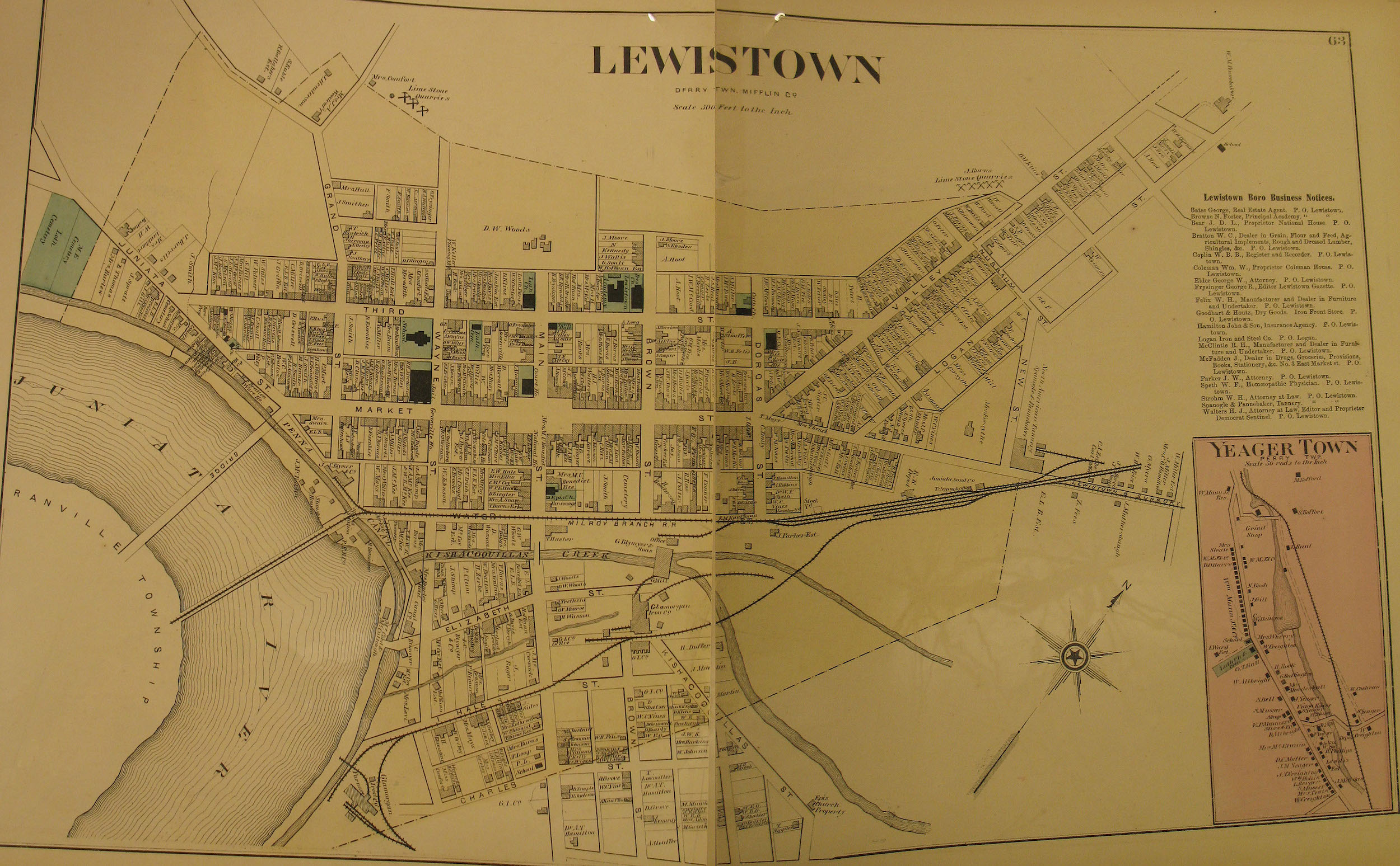 Lewistown map pre 1890