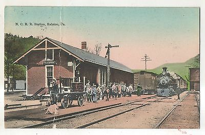 NCRR Railroad Station Depot RALSTON PA Vintage Lycoming