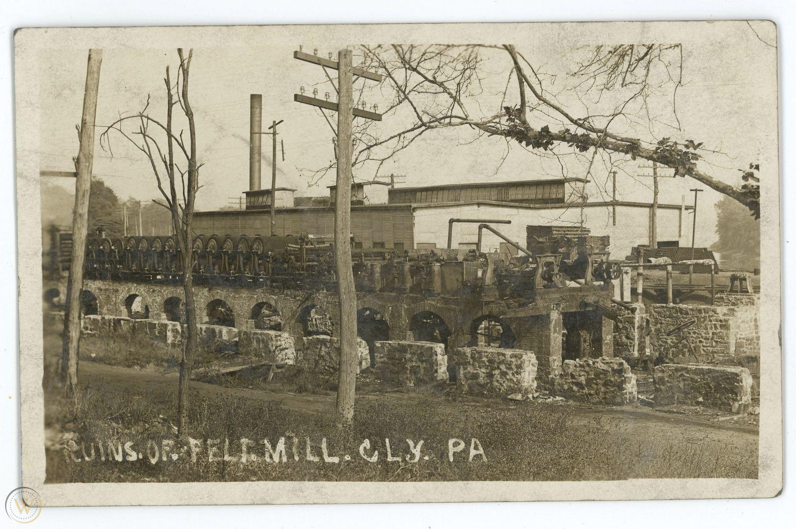 rppc felt mill ruins cly pa vintage 1 8ade11cecccbc72dfe55a15a769b9dbf