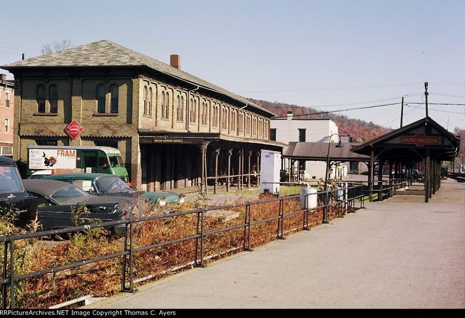 Pennsylvania Railroads Passenger Station in Huntingdon in October of 1965