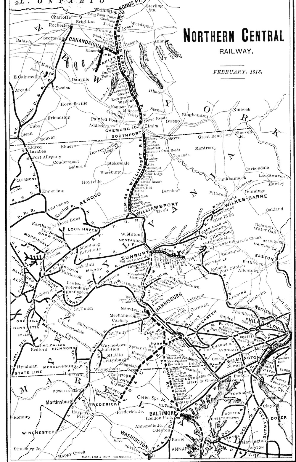 Northern Central 1913