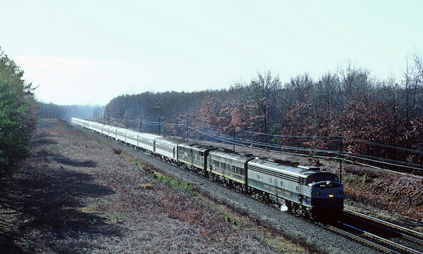 RFP 1014 with Train 2 The Flordia Special north of Ashland VA on January 12 1969 25463676785