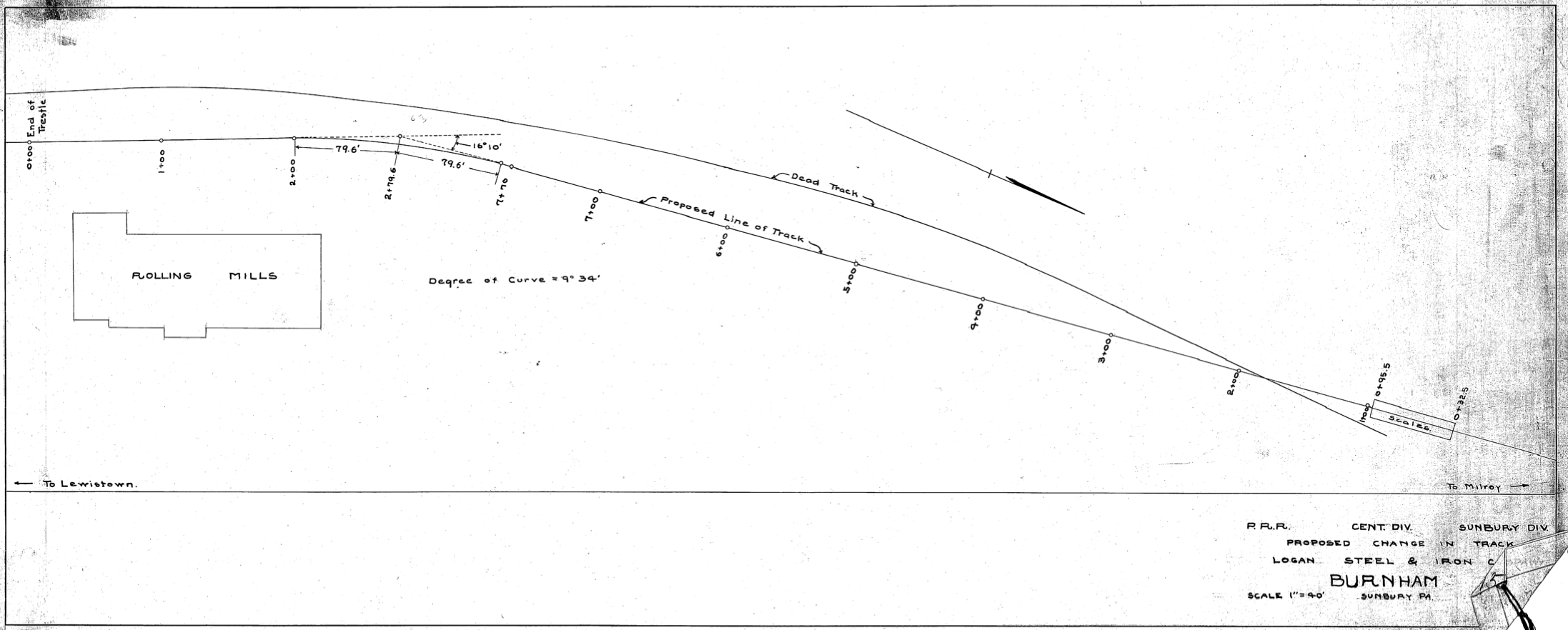 Undated Track Diagram of Logan Iron Steel
