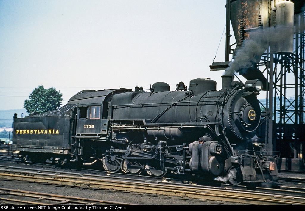 Pennsylvania Railroad engine 1770 an H 9S 2 8 0 Consolidated in Lewistown Mifflin County on August 29 1953jpg