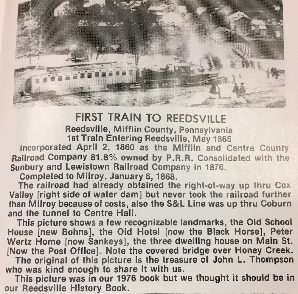 first train to reedsville