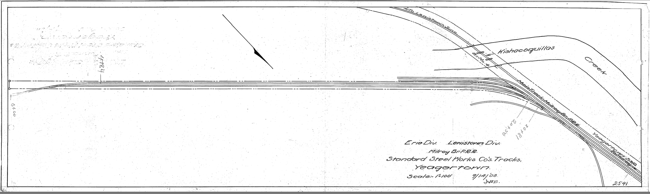 1908 Track Diagram of Standard Steel
