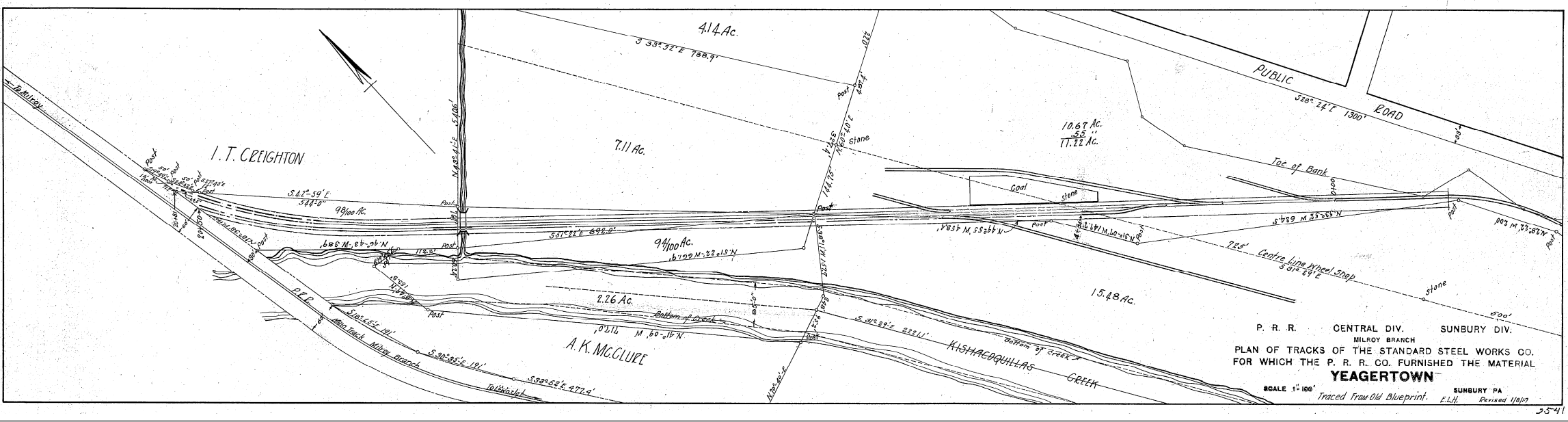 1917 Track Diagram of Standard Steel